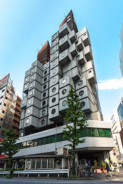 Nakagin Capsule Tower (Source - Wikipedia)