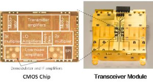 Transceiver CMOS chip and module (Picture - Adalidda)