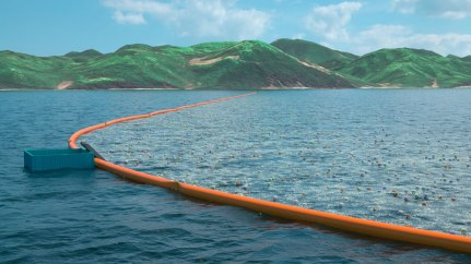 Ocean Cleaning System (Picture - The Ocean Cleanup)