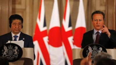Shinzo Abe and David Cameron (Picture - AFP)
